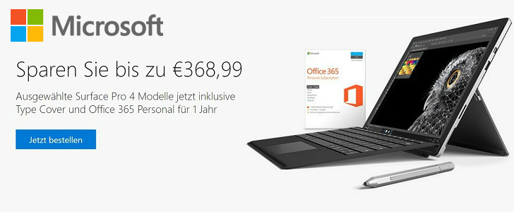 Gratis Type Cover und Office 365 Personal im Microsoft Store