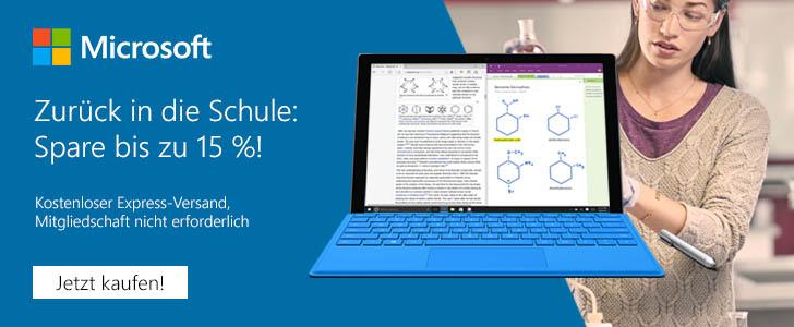 15% Rabatt im Microsoft Store