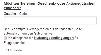 Gutschein-Hilfe airlinedirect