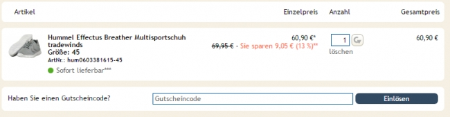 Gutschein-Hilfe Sportbedarf.de