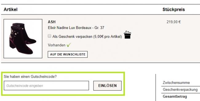 Gutschein-Hilfe JADES24.com