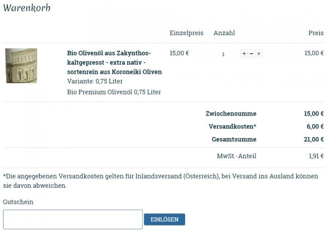 Gutschein-Hilfe Zante-oel.at
