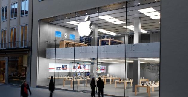 Foto vom Apple Store in der Münchener Rosenstrasse