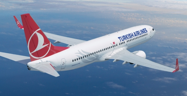 Eine Boeing 737-800 der Turkish Airlines