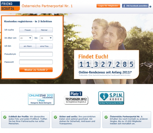 FriendScout24 – Dein Partnerportal